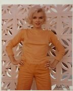 Marilyn Monroe Signed George Barris Large Pin-up Vintage Photo The Last Sitting