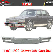 Front Bumper Face Bar Chrome Without Molding Holes For 1980-90 Chevrolet Caprice