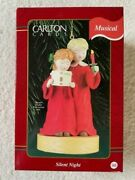 Carlton Cards 1998 Musical Christmas Ornament Silent Night New With Batteries
