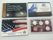 2008, 2010 And 2011 Clad Quarter Proof Set And 2001 Silver State Quarter Set