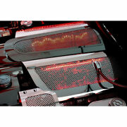 Acc Fuel Rail Covers W/green Led Fits 2008-2013 Corvette-replacement Perforated