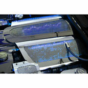 Acc Fuel Rail Covers W/blue Led Fits 2005-2007 Corvette-replacement Perforated