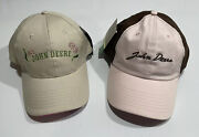 Rare Sample New 2 John Deere Womenand039s Hat Cap Pink Adjustable K Products Cyrk