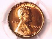 1954 S Lincoln Wheat Cent Penny Pcgs Ms 66 Rd 32967451 Toned