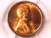 1954 S Lincoln Wheat Cent Penny Pcgs Ms 66 Rd 34356475