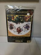 Dimensions Gold Collection Windswept Santa Tree Skirt Counted Cross Stitch Kit