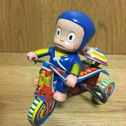 Ninja Hattori Tricycle Vintage Rare Blik Tin Toy Antique Old Spring Moveable