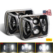 130w 2pc 7x6led Halo Headlight Hi/lo For Chevy C6500 C7500 Kodiak 1997-2009 Car