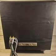 Jbl Pb10 Powered Subwoofer W/premium Gold Series Red And White Cables Tested