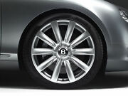 Genuine Bentley Continental Gt Gtc 21and039and039 Propeller Wheel Centre Cap Hubs Set Of 4