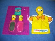 Vintage Six Flags Tweety Bird Comb And Mirror Puppet Great America Amusement Park