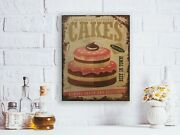 Kitchen Decor Wall Art Bakery Sign Rustic Antique Vintage Mothers Day Gift