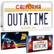 Coa51 Back To The Future Outatime License Plate 2020 Niue Silver Coin 88 Minted