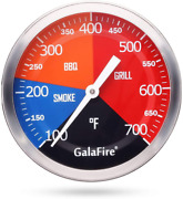 Galafire 3 3/16 Inch Bbq Temperature Gauge For Smoker Wood Charcoal Pit Large F