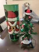 Disney Parks Mickey Mouse Mailable Lit Christmas Tree Ornaments Hat Boots Coat