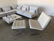 Barcelona Chair + Ottoman | Owned By Madonna | Estate Sale | Aniline Leather