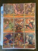 Marvel Metal 1995 Full Base Set + All Metal And 17 Gold Blasters And 43 Flashers