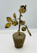 And Co. Janna Thomas Vintage Mexican Sterling Silver Gold Vermeil Flower