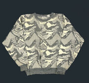 Vtg 90s Cosby Ivory Pullover Sweater Aesthetic Notorious Big Style Men's L
