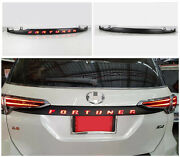 Glossy Black Rear Door Trunk Led Tail Light Cover For Toyota Fortuner 2015-2021
