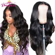 Transparent Lace Frontal Human Hair Wig Pre Plucked Body Wave Wig With Baby Hair