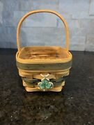 Longaberger Lots Of Luck Basket And Protector With Tie On