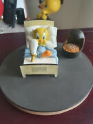 Extremely Rare Looney Tunes Tweety In Bed With Broken Leg Figurine Statue