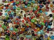 4 Pounds Assorted India Handmade Fancy Glass Beads Wholesale Bulk Lot Dt-15