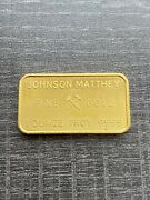 1 Ounce Johnson Matthey Refiners And Assayers London Gold Bar .9999 Fine