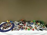Huge Playmobil Lot Dinosaurs, Christmas, Train, Tons Of People And Accessories