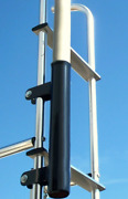 Black Ladder Mount-16 W/ 1.625 Diameter Fits 16and039 Ft Flag Pole Or Any 1.51 Base