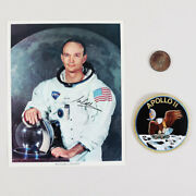 Michael Collins Signed 8x10 Photo Nasa Astronaut With Apollo Ii Patch And Medal...