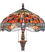 Dragonfly Floor Pole Lamp Style Shade Stained Glass