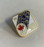 1988 Calgary Winter Olympic Pin Canadaand039s Olympic Team Coa Emblem Pictograms 41
