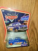 Fabulous Hudson Hornet Disney Cars Supercharged Doc Red Racing Tires Diecast 51