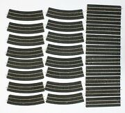 26 Vintage Marx Ho Train Track W Plastic Track Bed 10 Straight And 16 Curves