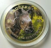 1oz South African Krugerrand .999 Silver Coin - Baby Rhinoceros
