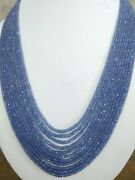 Natural Precious Blue Sapphire Gemstone 2-5mm Faceted Rondelle Bead 20 Necklace