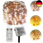 Erchen Two Tone Solar Powered Led String Lights 100ft 300 Leds Remote Control