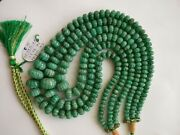 Aaa+ 20 Precious Natural African Emerald Mellon Rondelle 8-12mm Beads Necklace