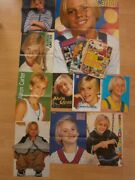 Set Of Young Aaron Carter Hungarian Magazine Giant Cute Posters Clippings Budle
