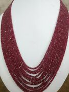 Natural Burmese Red Spinel Gemstone 2-5 Mm Faceted Rondelle Beads 24 Necklace