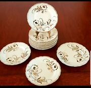 Meissen Cake Plates Antique Handpainted Porcelain 1890and039s Germany