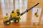 Vintage Mighty Tonka Turbo Diesel Toy Truck With Crane And Clam Bucket Toy