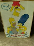 Matt Groening The Simpsons Family Signed Autograph 18x24 Poster With Sketches