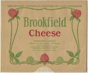 1930s Brookfield Cheese Packet Of Decorated Glassine Paper Wrappers Dairy