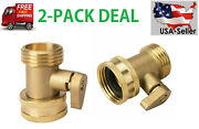 3/4and039and039 Inch Garden Hose Shut Off Valve Water Pipe Faucet Connector Handy2 Packs