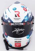 Kyle Busch Signed Full Size M And M Patriot Replica Helmet With Coa