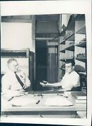 1935 Photo Marion Schakleford Police Officer Lie Detector Test Seymour Francis
