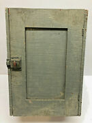 17 Old Antique Gray Paint Primitive Wood Wall Hanging Kitchen Shaker Cupboard